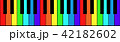 Painted in the colors of the rainbow piano keys 42182602