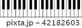Black and white piano keys 42182603
