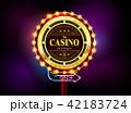 カジノ カジノの ライトのイラスト 42183724