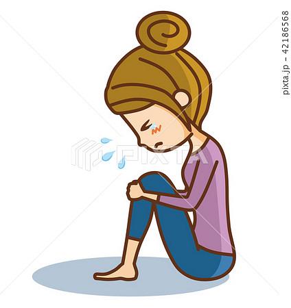 悲しむ女性 42186568