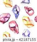 結晶 宝石 鉱物のイラスト 42187155