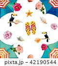 花 パターン 柄のイラスト 42190544