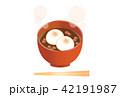 餅 デザート 食べ物のイラスト 42191987