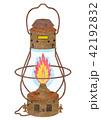 ランプ ランタン 点火のイラスト 42192832
