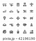 airplane and airport filled Icon set 42196190