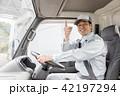 男性 トラック 運転の写真 42197294