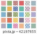 和柄 パターン 伝統文様のイラスト 42197655