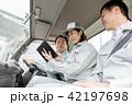 女性 トラック 運転の写真 42197698