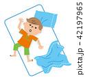 子供 寝相 イラスト 42197965