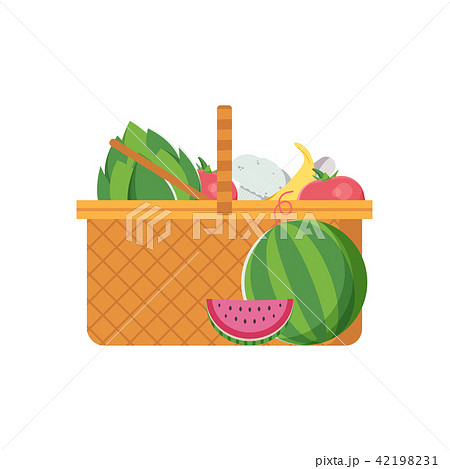 Wicker Picnic Vegetable Basket 42198231