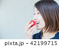 トマト 女性 人物の写真 42199715
