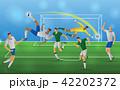 サッカー 試合 人のイラスト 42202372