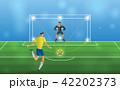 サッカー 試合 人のイラスト 42202373