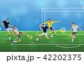 サッカー 試合 人のイラスト 42202375