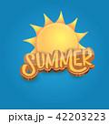 夏 朝焼け 日の出のイラスト 42203223
