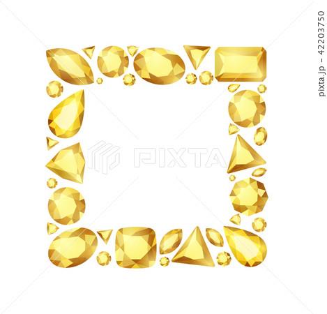 Cartoon gem square frame 42203750