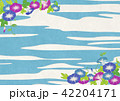 朝顔 青空 夏のイラスト 42204171