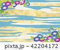 朝顔 青空 夏のイラスト 42204172