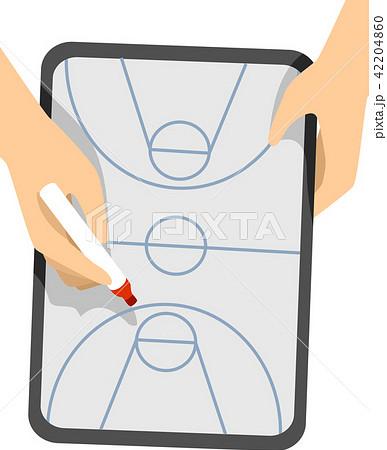 Hands Basketball Game Plan Board Illustration 42204860