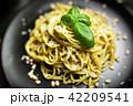 ジェノベーゼ スパゲティ パスタの写真 42209541