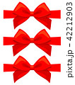 蝶結び クリスマス リボンのイラスト 42212903