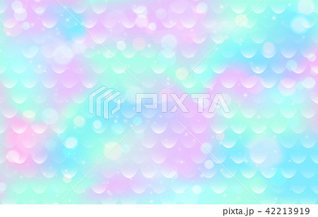 Mermaid scale pattern. Gradient fish texture. Pink blue color marine background 42213919