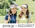 ゴルフ 女性 人物の写真 42215657