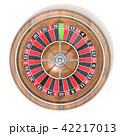 Roulette wheel. Top view. 3D 42217013