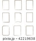 やさしい線画 フレーム 長方形 42219638