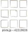 やさしい線画 フレーム 正方形 42219639