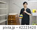 先生 教師 体育 体育教師 部活 バレーボール 倉庫 学校 授業 教育イメージ ポートレート 42223420