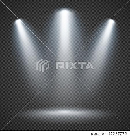 Scene illumination with bright lighting of spotlights vector 42227776