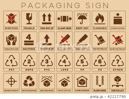 Packaging sign or symbols 42227790