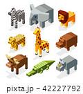 動物 アフリカ産 アイソメトリックのイラスト 42227792