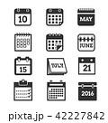 カレンダー 暦 ベクタのイラスト 42227842