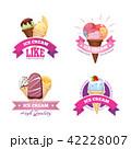 アイス 食 料理のイラスト 42228007