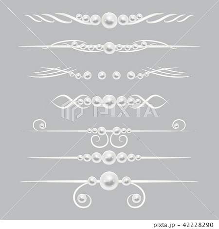 Pearl dividers page decor vector set 42228290