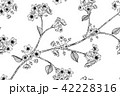 背景 花がら 花柄のイラスト 42228316