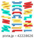 リボン のぼり バナーのイラスト 42228626