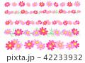コスモスの花の飾り罫線(ライン) 42233932