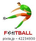 サッカー フットボール 蹴球のイラスト 42234930