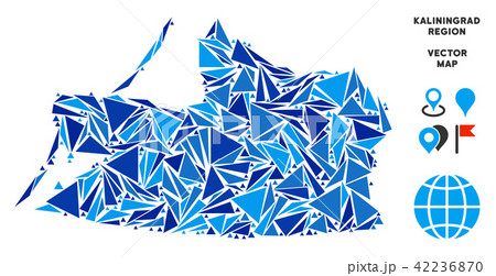 blue triangle kaliningrad region mapのイラスト素材 42236870 pixta