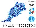 マップ ベクター ブルーのイラスト 42237308