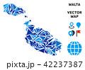 マップ ベクター ブルーのイラスト 42237387