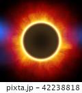 鮮豔細緻的真實太空行星場景紋理背景:日食/日蝕(高分辨率 3D CG 渲染∕著色插圖) 42238818