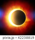 鮮豔細緻的真實太空行星場景紋理背景:日食/日蝕(高分辨率 3D CG 渲染∕著色插圖) 42238819