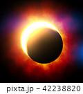 鮮豔細緻的真實太空行星場景紋理背景:日食/日蝕(高分辨率 3D CG 渲染∕著色插圖) 42238820