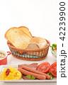 食べ物 パン トーストの写真 42239900