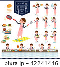 flat type Gray suit business women_cooking 42241446