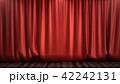 ステージ カーテン 立体のイラスト 42242131
